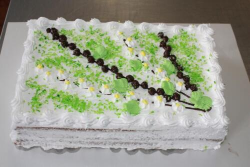 Нарезной торт Черемуха. 350 руб.-1 кг.